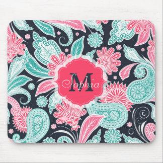 Mousepad Ilustração floral na moda elegante do teste padrão
