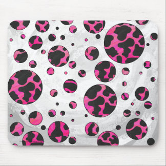 Mousepad Impressão do rosa quente e do preto da vaca do