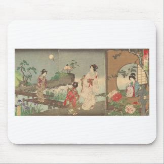 Mousepad Jardim no início do verão por Toyohara Chikanobu