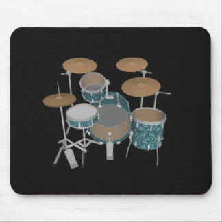 Mousepad Jogo do cilindro do jazz - cilindros verdes feitos
