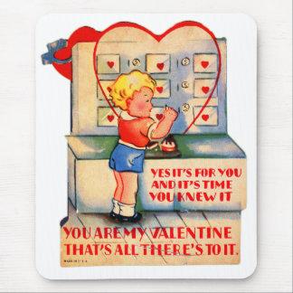 Mousepad Kitsch retro dos namorados do vintage é tempo onde