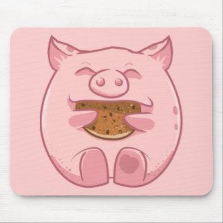 mousepad leitão cor-de-rosa do biscoito comer