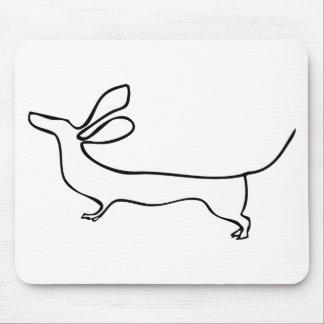 Mousepad Linha ilustração do Dachshund um das orelhas do