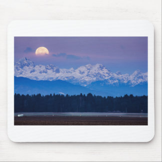 Mousepad Lua cheia que ajusta-se sobre os cumes julianos