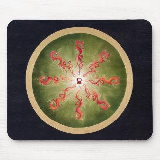 Mousepad - mandala - dragões - maias - fogo