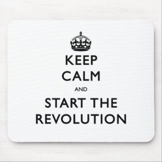 Mousepad Mantenha a calma e comece a revolução