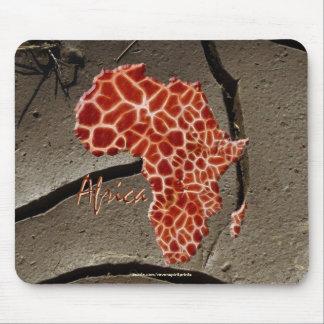 Mousepad Mapa africano do girafa de ÁFRICA na textura da