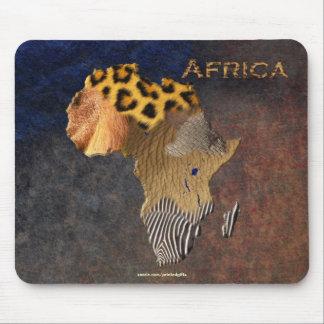 Mousepad Mapa animal africano da textura de animais