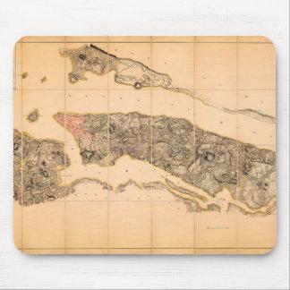 Mousepad Mapa britânico do QG do tapete do rato de New York