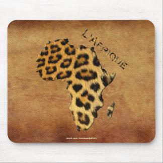 Mousepad Mapa da pele do leopardo da série dos animais