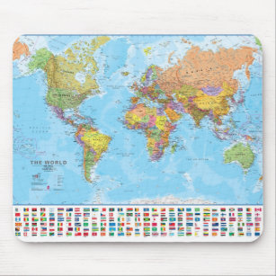 Mousepad Mapa do mundo Mousepad/Mousemat