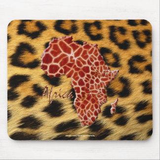 Mousepad Mapa dos pontos do girafa & do leopardo de animais