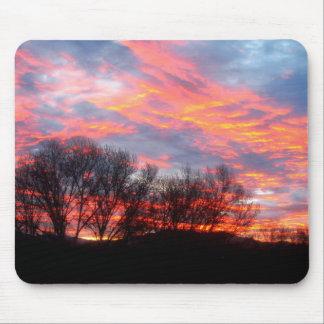 Mousepad - nascer do sol bonito do inverno