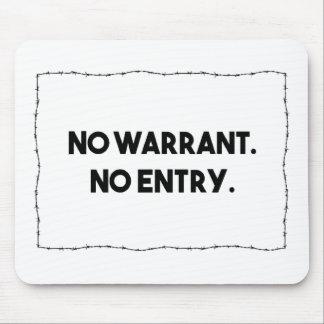 Mousepad Nenhuma autorização. Nenhuma entrada. Polícia do