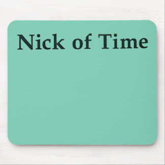 "Mousepad ""Nick tapete do rato do tempo"""
