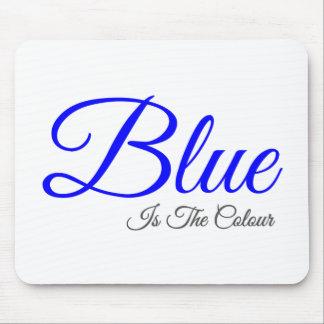 Mousepad o azul é a cor