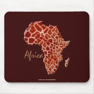 Mousepad O girafa mancha o mapa da série dos animais