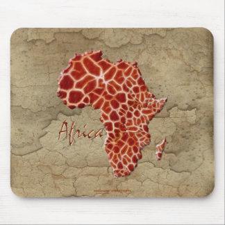 Mousepad O girafa mancha o mapa de animais selvagens de