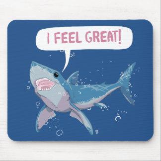Mousepad O grande tubarão branco sente o excelente