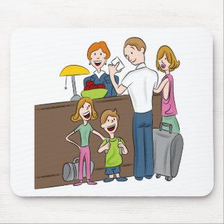 Mousepad O hotel de família verifica dentro desenhos