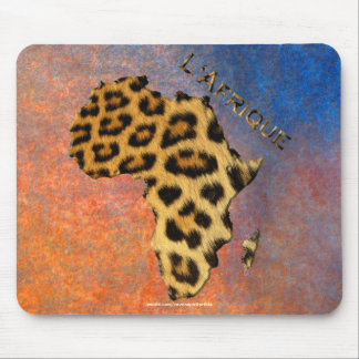 Mousepad O leopardo mancha o mapa de animais selvagens de