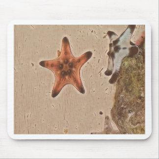 Mousepad O ponto morto artístico Tans a estrela do mar na