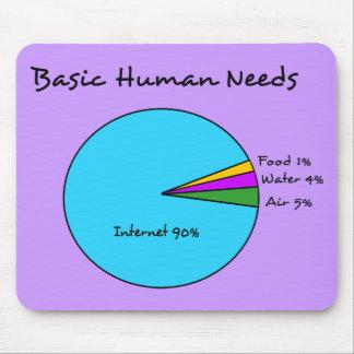 Mousepad O ser humano básico engraçado precisa (o Internet