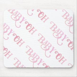 Mousepad Oh menina feminino cor-de-rosa personalizada bebê