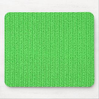Mousepad Olhar verde-maçã da malha do Weave