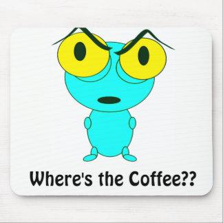 Mousepad Onde está o café, os desenhos animados