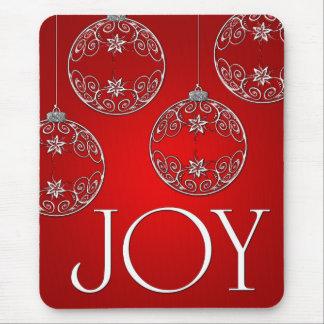 Mousepad Ornamento da alegria em elegante vermelho do rubi