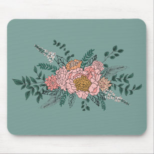 Mousepad Pad do mouse Floral