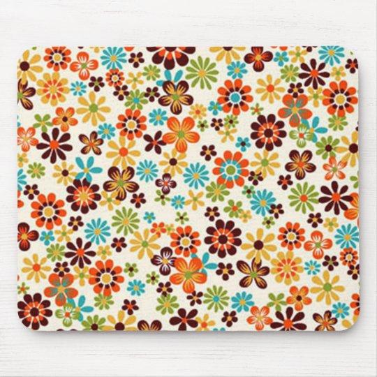 Mousepad padrão de flores