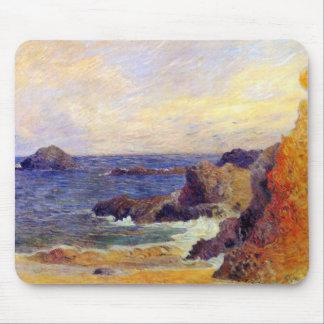 Mousepad Paul Gauguin - pintura rochosa das belas artes da