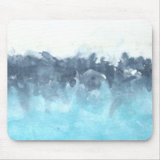 Mousepad Pintura abstrata mergulhada dos azuis