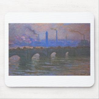 Mousepad Ponte de Waterloo, tempo nublado por Claude Monet