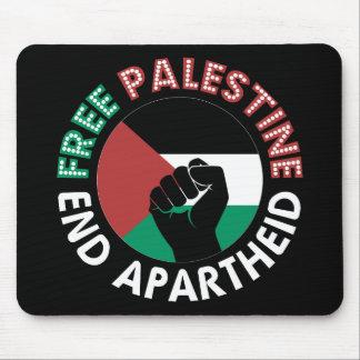 Mousepad Preto livre do punho da bandeira do Apartheid do