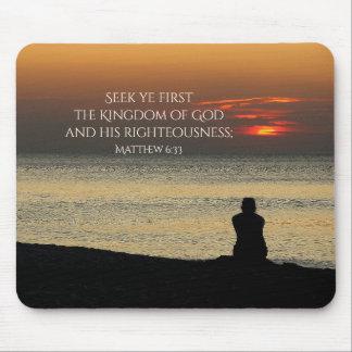 Mousepad Procure o primeiro reino de deus, Matthew 6, por