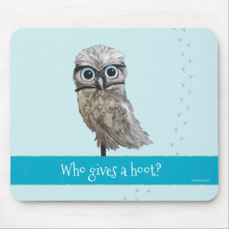 Mousepad Quem dá uma buzina? Burrowing a pintura da coruja