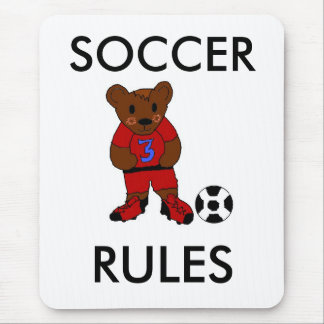Mousepad Regras do futebol do divertimento