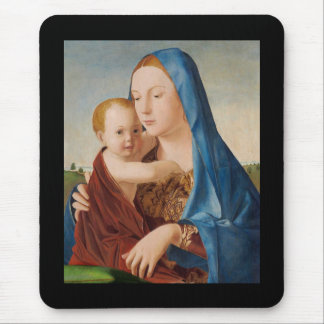 Mousepad Retrato de Mary que guardara o bebê Jesus