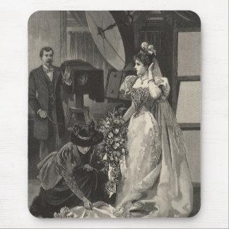 Mousepad Retrato nupcial do vintage, noiva do Victorian