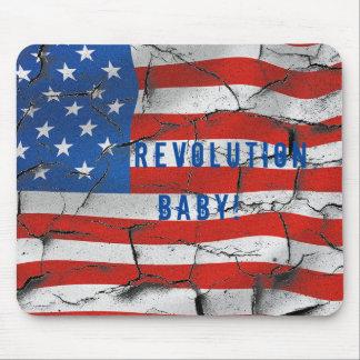 Mousepad Revolução da bandeira do vintage, bebê!