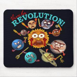 Mousepad Revolução engraçada do planeta