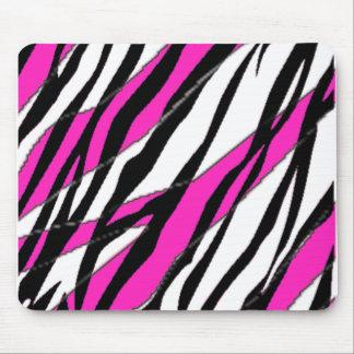 Mousepad Rosa quente da listra da zebra