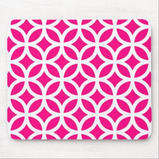 Mousepad Rosa quente geométrico