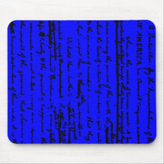 Mousepad Roteiro bonito do esboço por Thos. Jefferson 1776
