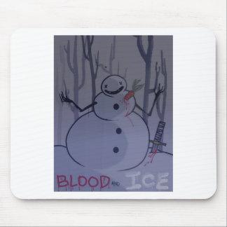 Mousepad sangue e estaca do gelo