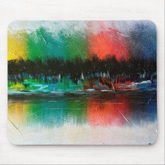 Mousepad tapete do rato abstrato da pintura de paisagem