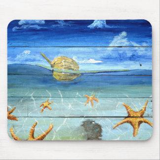 Mousepad Tapete do rato colorido do céu da estrela do mar